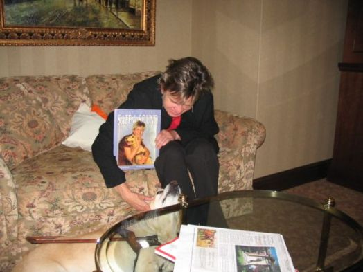 Me, seven-year-old Hanni and our book when it first came out in 2007.
