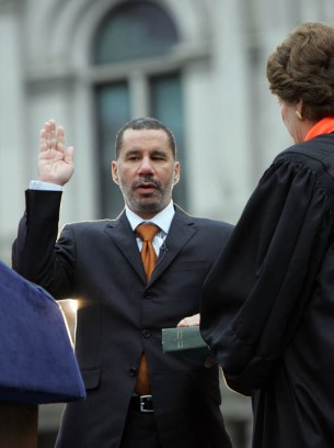 Governor David Paterson swearing in…