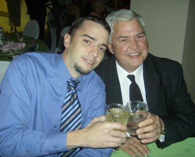 That's my handsome nephew Robbie with his handsome father Rick.