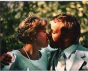 Wedding day, July 28, 1984. Thanks to some terrific people, me and the miracle girl can look forward to another anniversary.(Photo by Rick Amodt.)
