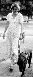 Beth and her first Seeing Eye dog, Dora.