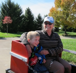 That's Benita with her beloved grandson Sam (photo courtesy of Josh Daniels).