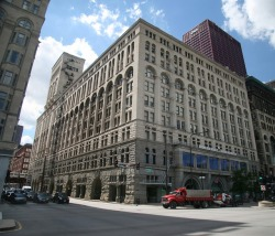 That's the Auditorium, viewed from the east side of Michigan Avenue.