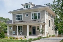 A passive house in Bethesda, Md.