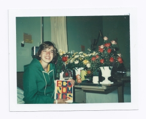 That's me in the hospital in high school. (Photo courtesy Laura Gale.)