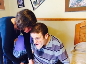 A visit with our son Gus at his group home.