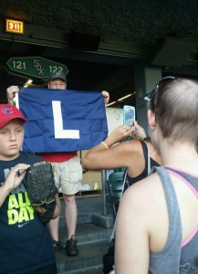 Sox win. Cubs lose. Love my flag.
