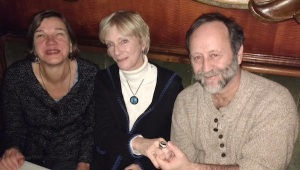 Me and Mike with Nancy Faust at the Green Mill awhile back. Nancy showed Mike her World Series ring.