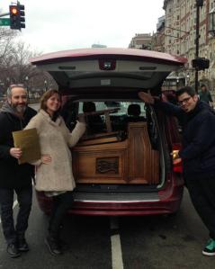 The organ juuusssst barely fit in the van.