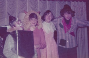 I was born to play the part. Here I am with friends at a high school costume party in 1976 -- we're dressed as the characters from Wizard of Oz.