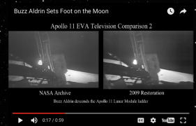 Buzz Aldrin becomes the second man on the moon.