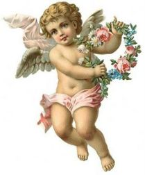 A depiction of Christkind, the Christmas angel.